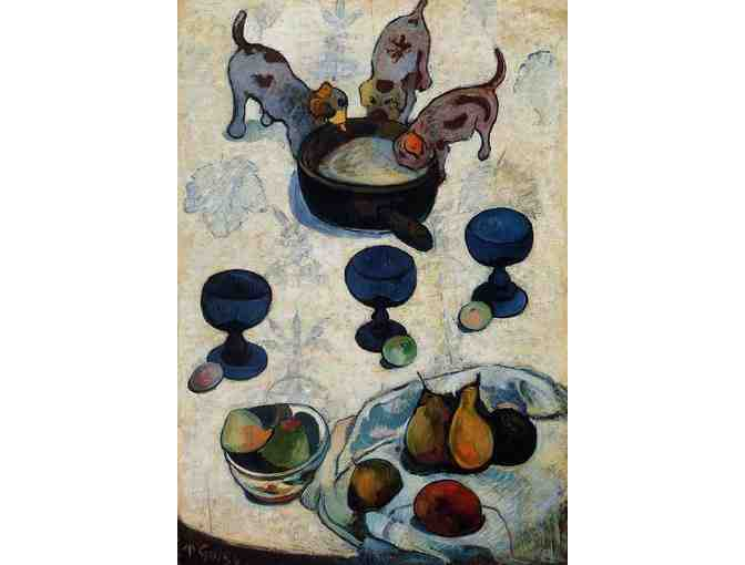 'STILL LIFE WITH THREE PUPPIES' BY GAUGUIN