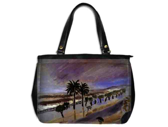 'STORM IN NICE' BY HENRI MATISSE:  LUXURY LEATHER ART TOTE BAG!