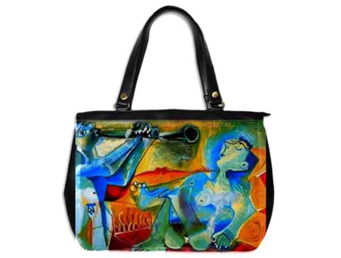 'THE DAWN' by Picasso:  Luxury Leather Art Tote/Handbag! Exclusively YOURS!