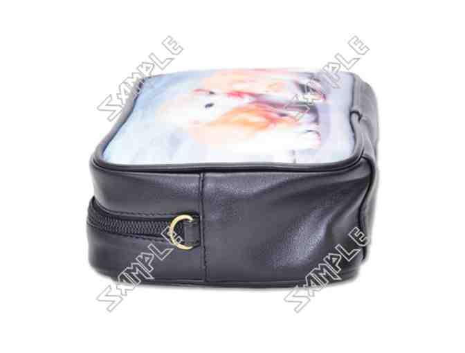 'THE DREAM' Franz Marc:  UNISEX LEATHER ESSENTIALS BAG w/ART inset, detachable strap!