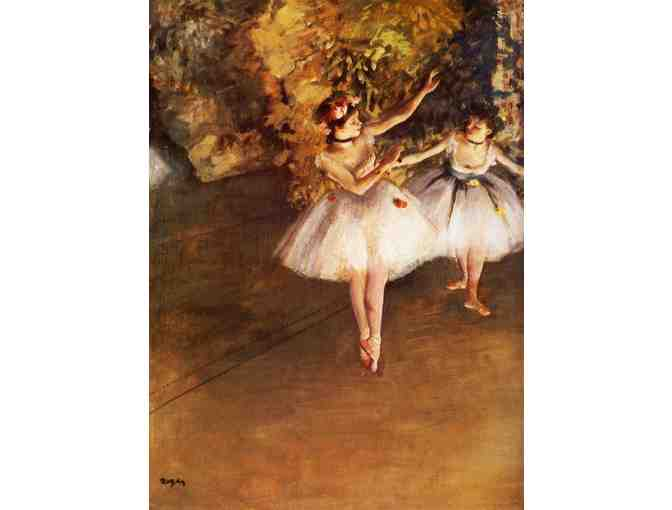 'Two Dancers On Stage' by Edgar DEGAS:  FREE Leather ART WATCH w/BID!
