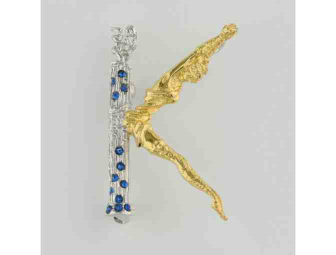 *ERTE!  From the Father of Art Deco:  Initial 'K' pendant/brooch!