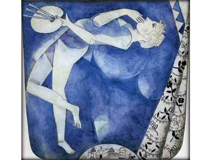 'The Painter To The Moon' by Marc CHAGALL:  FREE Leather Band ART WATCH w/BID!