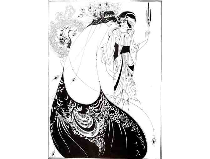 'The Peacock Skirt' by Aubrey BEARDSLEY:  FREE Leather Band ART WATCH w/BID!