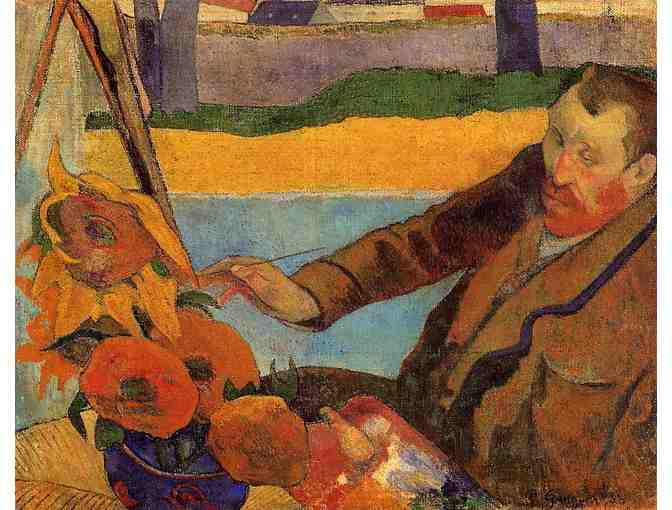'VAN GOGH PAINTING SUNFLOWERS' BY GAUGUIN
