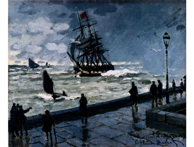 'THE JETTY AT LE HAVRE, BAD WEATHER' BY MONET