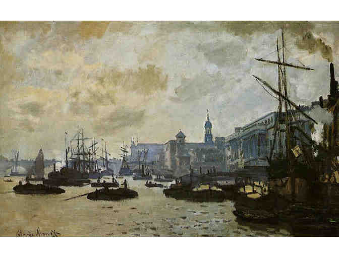 'THE PORT OF LONDON' BY MONET