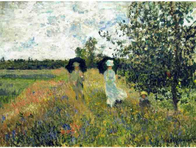 'THE PROMENADE NEAR ARGENTEUIL' BY MONET