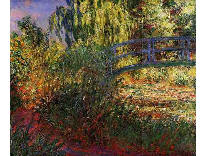 'THE WATER LILY POND AND PATH BY THE WATER' BY MONET