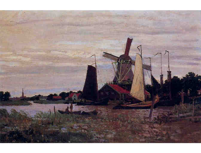 'WINDMILL AT ZAANDAM II' BY MONET