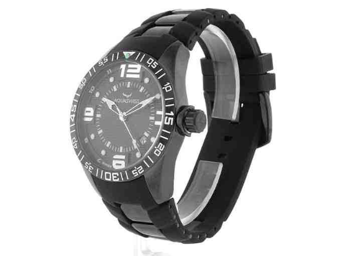 AQUASWISS! GENUINE Trax Series Watch with Black and White Bezel!
