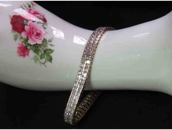 BR-25:  Beautiful 18kt Gold/Sterling  Bracelet from Charles Winston!