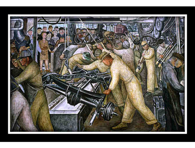 DETROIT (PANEL ONE) BY DIEGO RIVERA