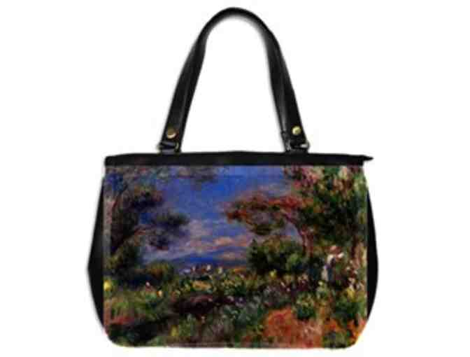 'YOUNG WOMAN IN A LANDSCAPE' by RENOIR:  Luxury Leather Art Tote Bag!
