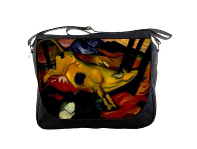 'THE YELLOW COW' BY FRANZ MARC:  MESSENGER BAG!