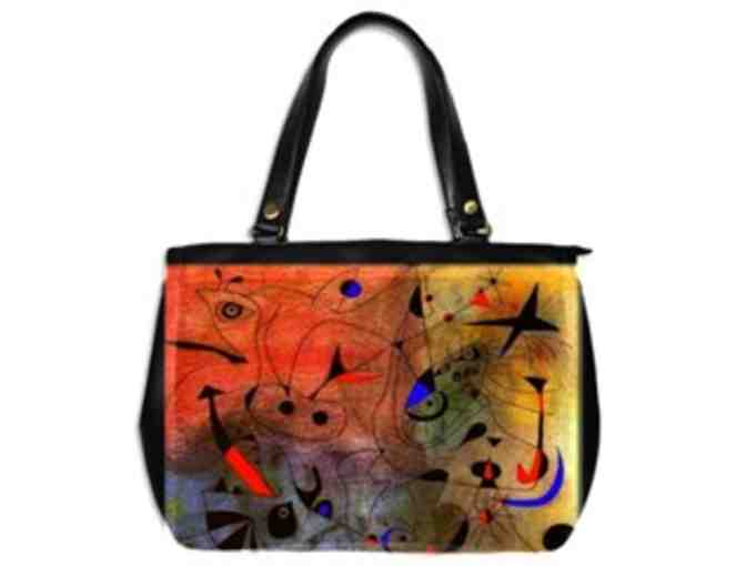 'CONSTELLATION, THE MORNING STAR' by MIRO: Custom Made Leather Art Tote Bag!