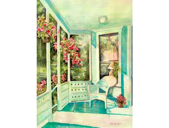 'The Porch At Sinclair Towers' by Artist Kathleen Berry Bergeron