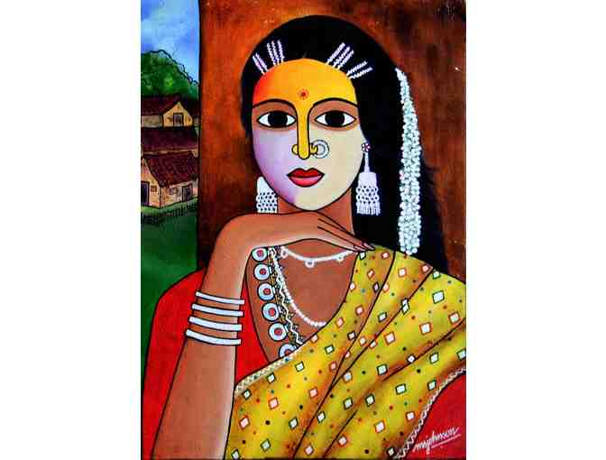 'Village Woman' by Artist Samuel Johnson