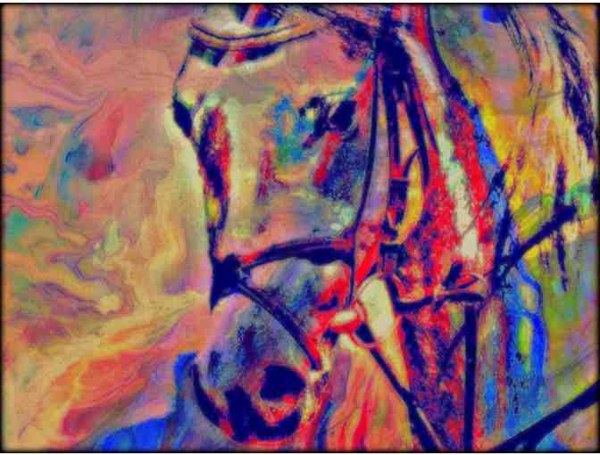 'Year of the Horse' by WBK:  HUGE!!! 40x60' limited edition CANVAS!