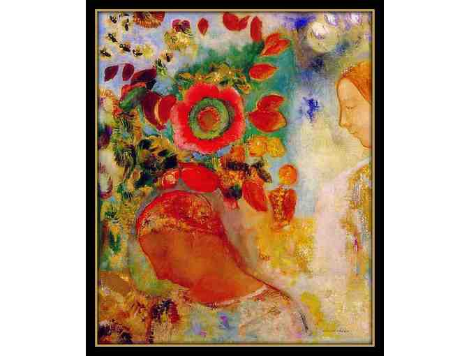 TWO YOUNG GIRLS BY ODILON REDON:  A3 GICLEE PRINT!