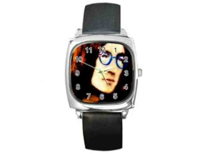 *' IMAGINE PEACE': ART TO WEAR WATCH'!:  SQUARE FACE UNISEX WATCH/TIME PIECE:
