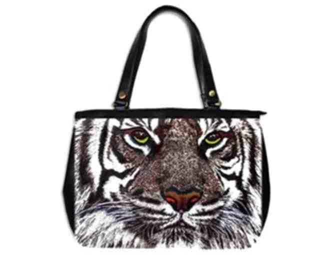 * 'WHITE BENGAL' BY WBK: CUSTOM MADE LEATHER TOTE BAG!