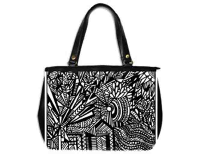* 'TILTING AT WINDMILLS' BY WBK: CUSTOM MADE LEATHER TOTE BAG!