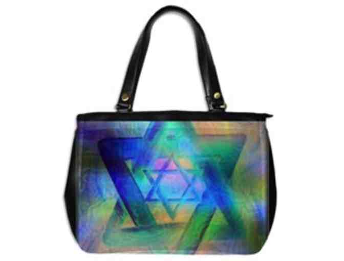 * 'STARS OF DAVID' by WBK: CUSTOM MADE LEATHER TOTE BAG!