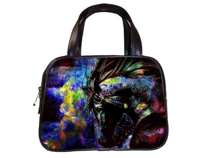'THUNDERING HOOVES':  Custom Made ART Hand Bag, Genuine Leather!