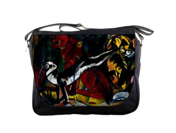 'THREE CATS' BY FRANZ MARC:  MESSENGER BAG!