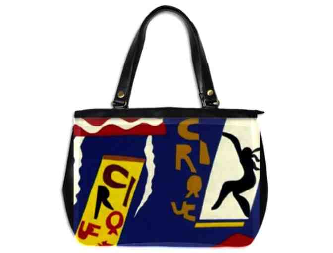 'THE CIRCUS' BY MATISSE:  LUXURY LEATHER ART TOTE BAG!
