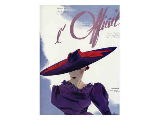 'L'Officiel' Cover Art, 1936:  Limited Edition A3 Giclee Print