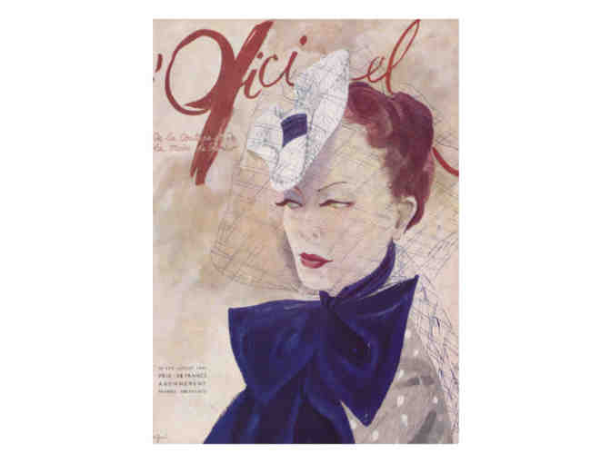 'L'Officiel' Cover Art, 1941:  Limited Edition A3 Giclee Print!