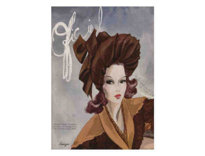 'L'Officiel' Magazine Cover Art, 1943:  A3 Giclee Print!
