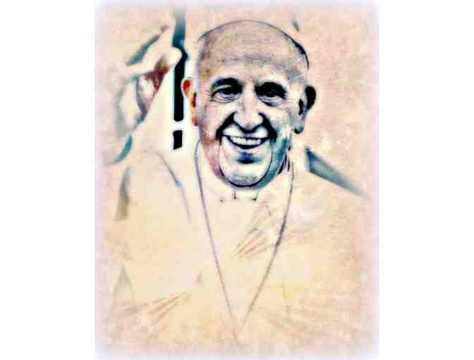 *'Pope Frances, Leader for Peace, Community, Love' by WBK: Museum Quality LTD Edition