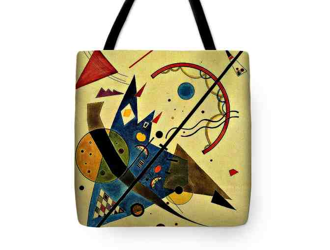 "! ART TOTE!: 18X18"", MADE IN THE USA!: ""ARCH AND POINT"" BY KANDINSKY - Photo 1"