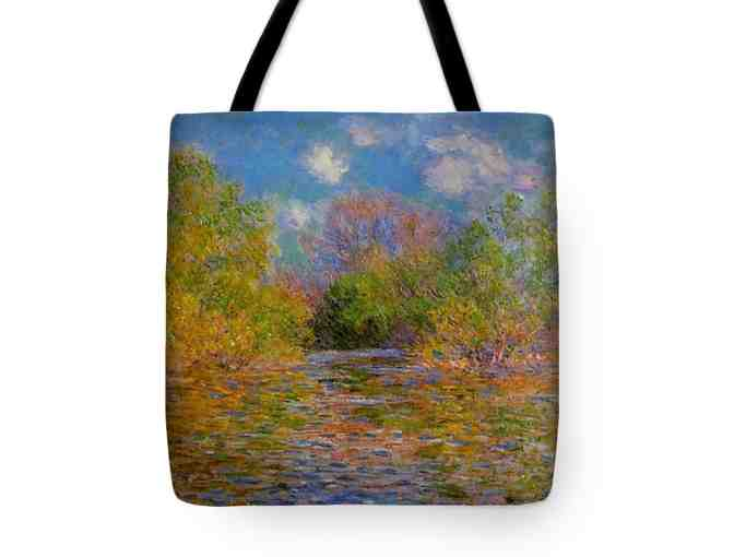 "! ART TOTES ! MADE IN THE USA!: ""THE SEINE NEAR GIVERNY"" BY MONET - Photo 1"