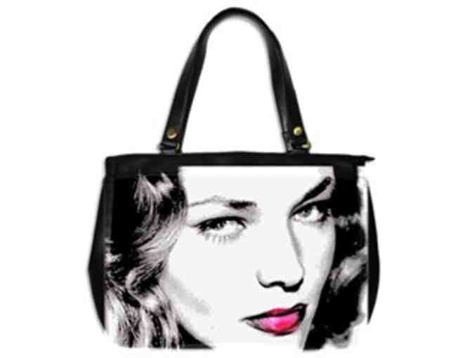 """Bacall"": ! Leather Art Tote:  Custom Made IN THE USA! Exclusive To ART4GOOD Auctions! - Photo 1"