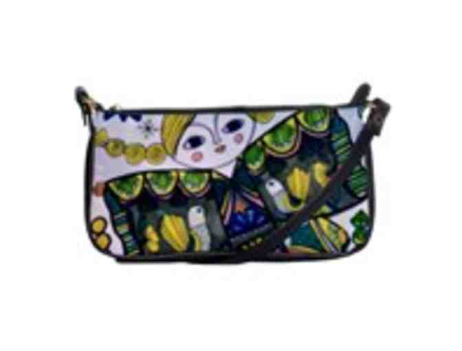 'Kimono Girl': Custom Made ART/Leather Shoulder Clutch: EXCLUSIVE to ART4GOOD Auctions!