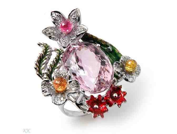 ' 1 only: 18 kt White Gold,  Ultra Couture Ring' : 26.96 carats of  EXOTIC GEMSTONES!
