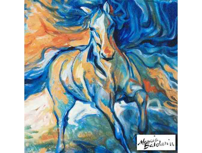 0-INV: 'STORMY BLUE EQUINE': by Marcia Baldwin  VERY COLLECTIBLE!!!
