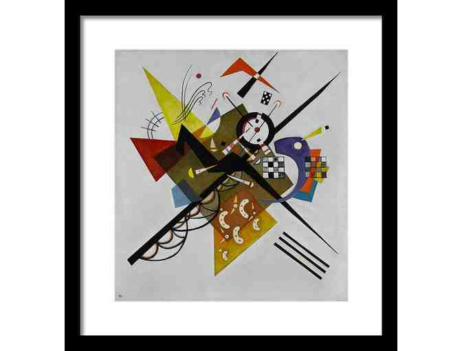 'White' by Kandinsky: Custom Framed Art Print! 18.50' x 19.50'