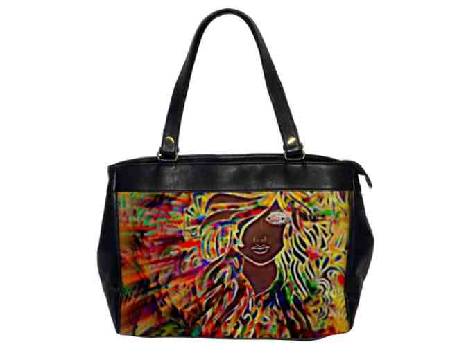 'Youth': ! Leather Art Tote:  Custom Made IN THE USA! Exclusive To ART4GOOD Auctions!