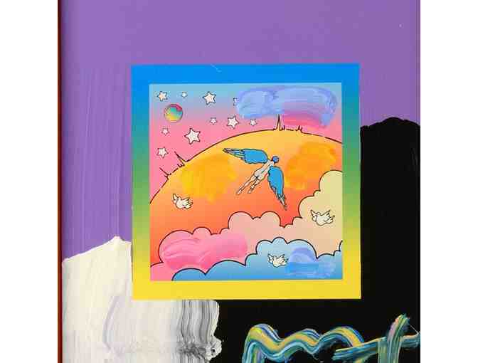 0-INV: 'ANGEL WITH CLOUDS' ORIGINAL WORK BY PETER MAX!:  UBER COLLECTIBLE!!