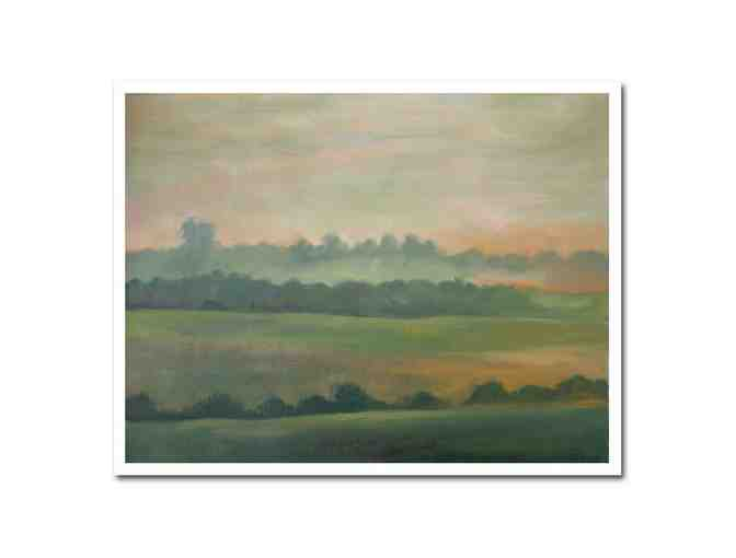 0-INV: 'Landscape Of Evening' by Neringa Jakaitiene  Original Oil on Canvas