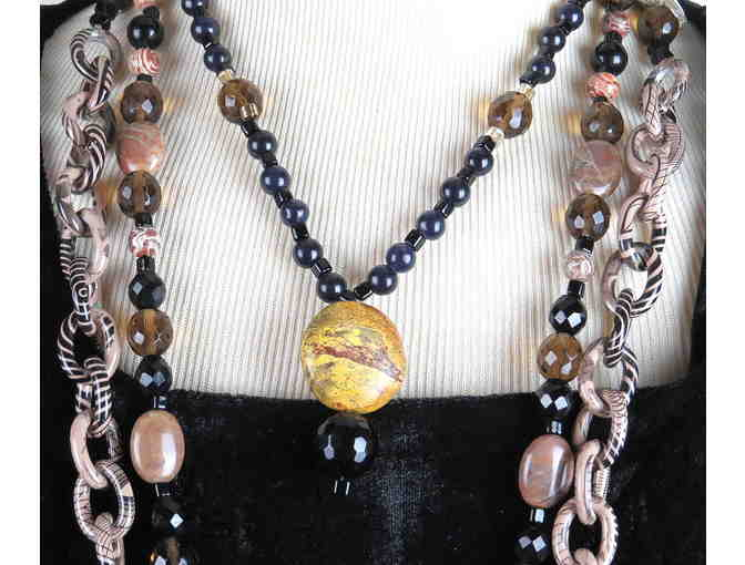 WAY COOL 1/KIND ENSEMBLE!GEMSTONE NECKLACE #402 & 403