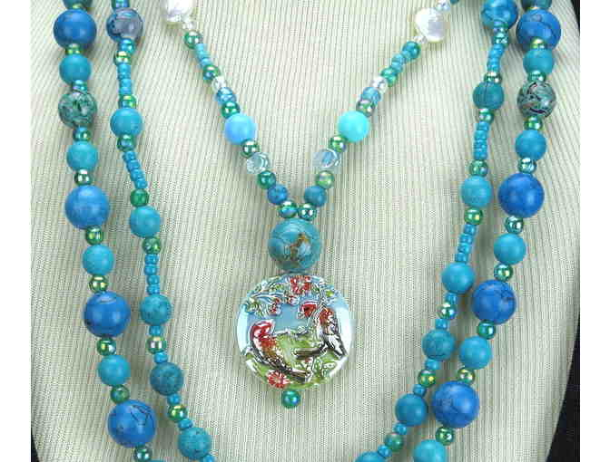 TWO NECKLACES=THREE LOOKS! 1/KIND GEMSTONE NECKLACE #288 & 289 ENSEMBLE!