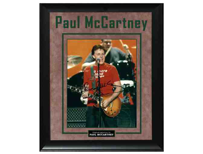 The Beatles Paul McCartney Hofner Bass Guitar Signed Custom Display Photo AFTAL