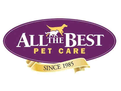 All the Best Petcare - $25 gift card and dog basket of assorted treats
