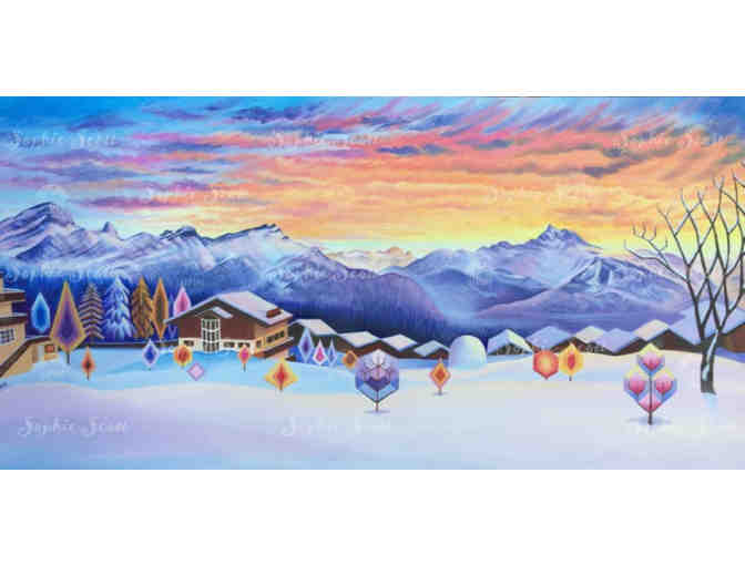 Winter Magic  Sunset - View from Aiglon   by Sophie Scott